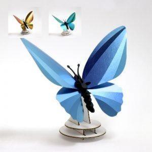 3D bouwpakket birdwing vlinder. Gemaakt van karton en metallic paier.