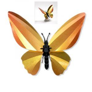 3D bouwpakket birdwing vlinder geel