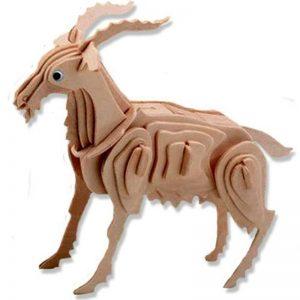 3D houten bouwpakket van een geit. Vervaardigd van FSC hout.