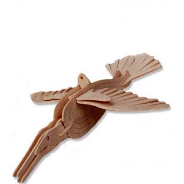 3D houten bouwpakket van een IJsvogel. Vervaardigd van FSC hout.