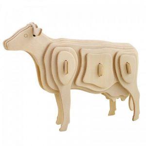 3D houten bouwpakket van een koe. Gemaakt van FSC hout.
