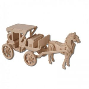 3D bouwpakket FSC hout - Paard en wagen