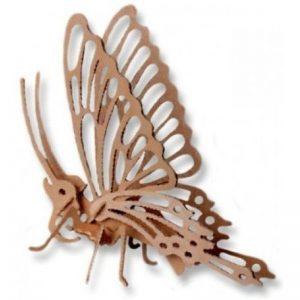 3D houten bouwpakket van een vlinder. Vervaardigd van FSC hout.