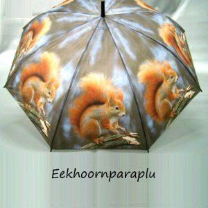 Paraplu met afbeelding van een eekhoorn