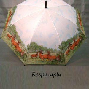 Paraplu met afbeeldingen van drie reeën