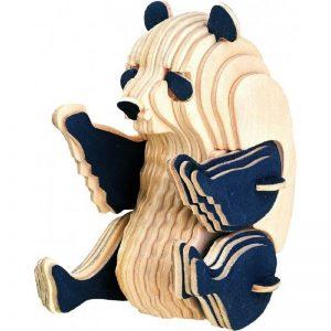 Houtende bouwpakket zittende panda