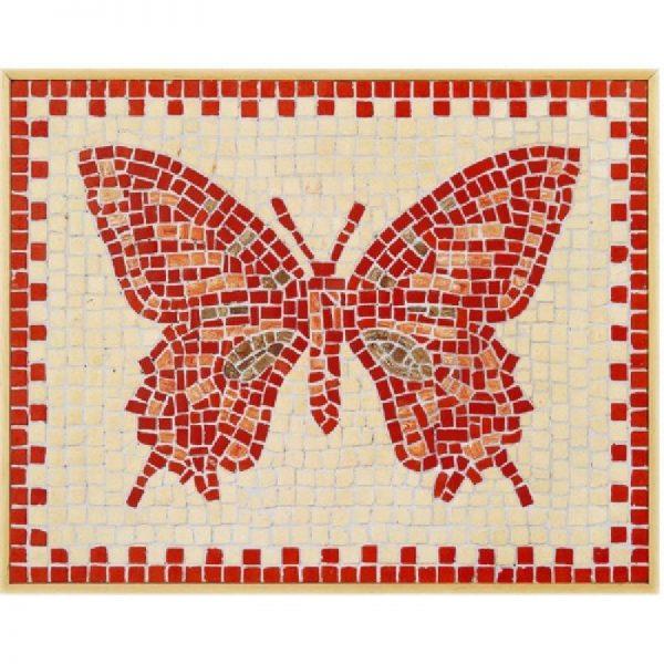 Mozaïek vlinder van steen