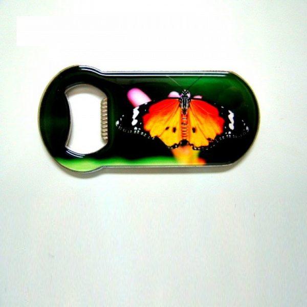 Flesopener met afbeelding monarchvlinder