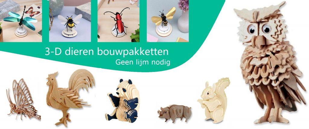 3D dieren bouwpakketten