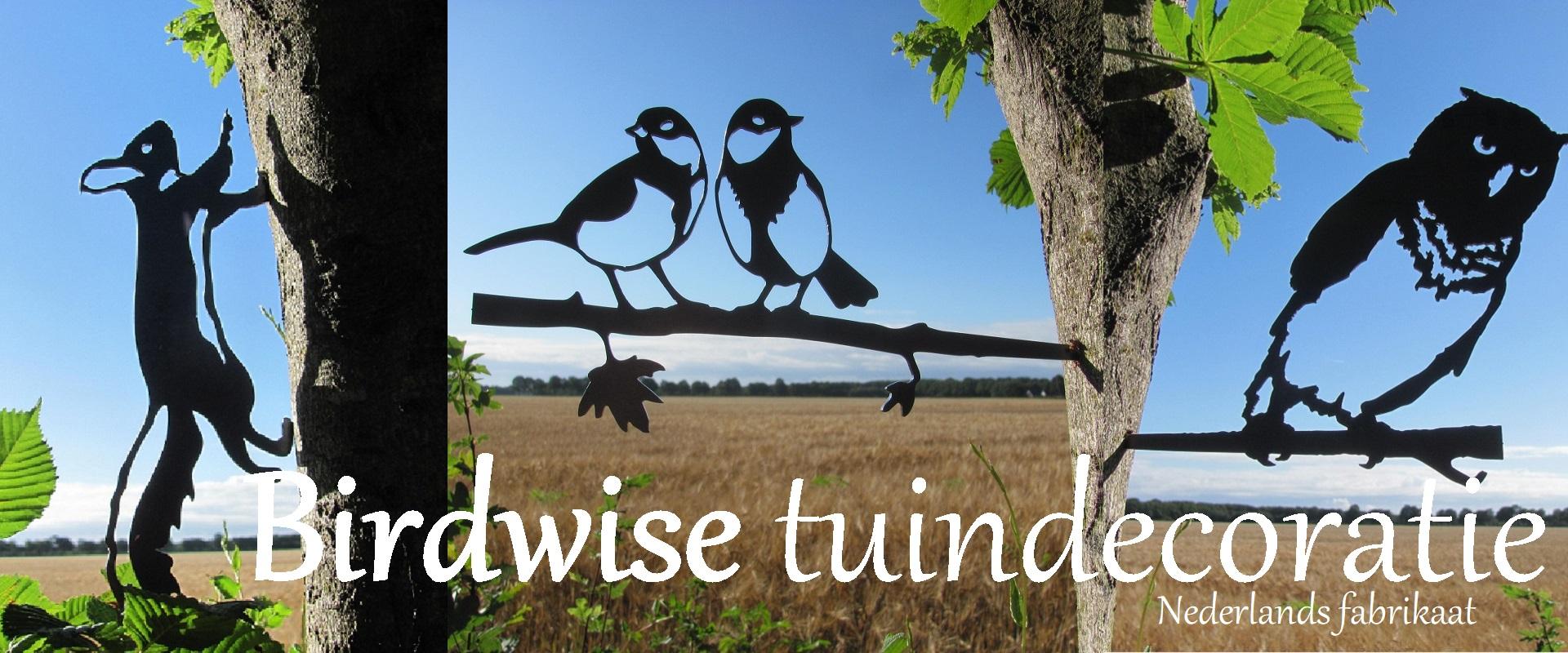 Voorbeelden van Birdwise metalen tuindecoratie