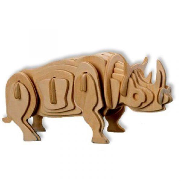 Bouwpakket hout witte neushoorn